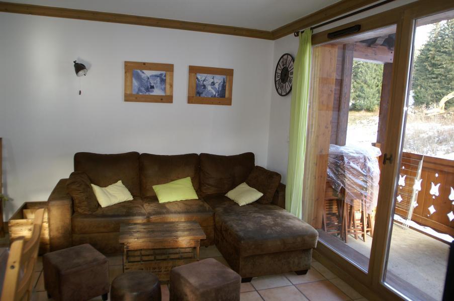 Vakantie in de bergen Appartement duplex 3 kabine kamers 10 personen - Résidence les Granges des 7 Laux - Les 7 Laux - Woonkamer