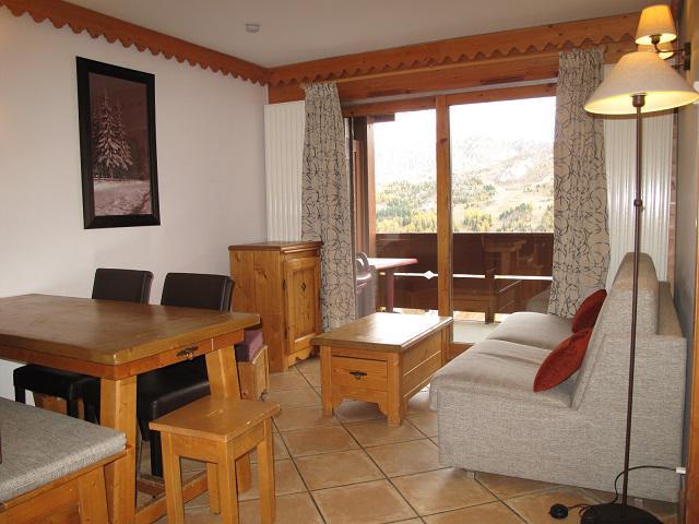 Vacances en montagne Appartement 3 pièces 6 personnes (A24) - Résidence les Hauts Bois - La Plagne - Séjour