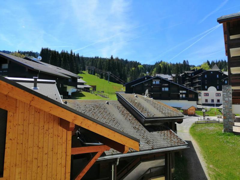 Аренда на лыжном курорте Апартаменты 3 комнат 6 чел. (JABB06) - Résidence les Jardins Alpins - Morillon - летом под открытым небом
