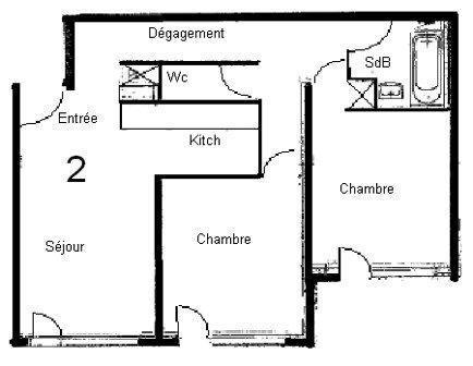 Wakacje w górach Apartament 3 pokojowy 6 osób (GL302) - Résidence les Jardins d'Hiver - Valmorel