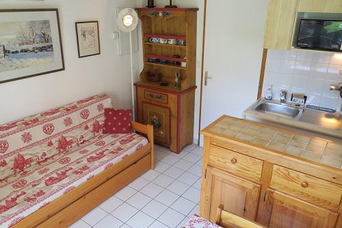 Vacances en montagne Appartement 2 pièces 4 personnes (B22) - Résidence les Jonquilles - Châtel - Canapé-gigogne
