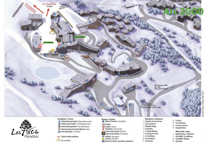Vacances en montagne Résidence les Lanchettes - Les Arcs - Plan