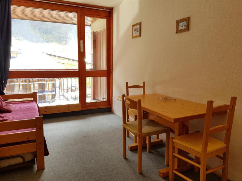 Vacances en montagne Studio coin montagne 3 personnes (410) - Résidence les Lanchettes - Les Arcs - Table