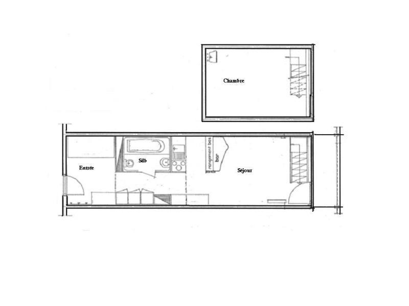 Vacances en montagne Appartement 2 pièces 7 personnes (860) - Résidence les Lauzières - Les Arcs - Plan