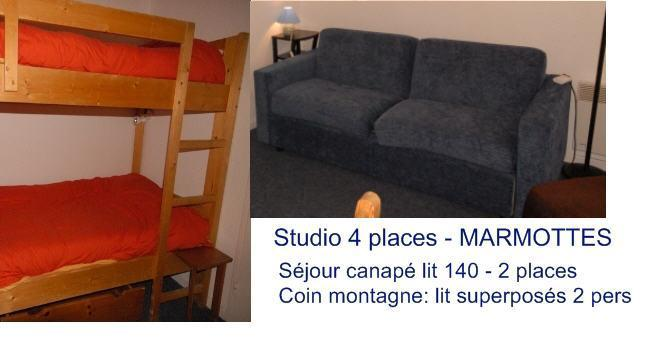 Holiday in mountain resort Studio 4 people (D4) - Résidence les Marmottes - Gourette