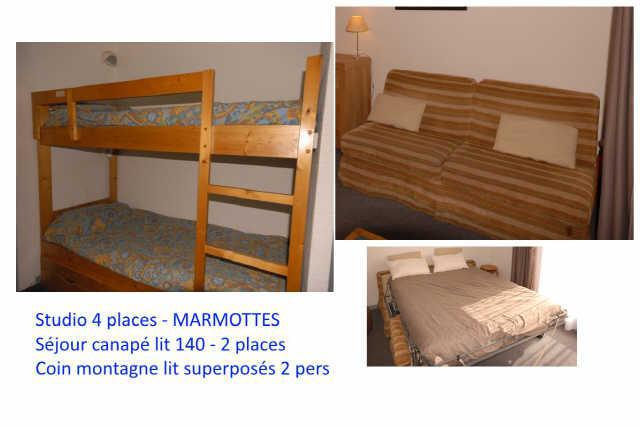 Holiday in mountain resort Studio 4 people (C1) - Résidence les Marmottes - Gourette - Accommodation