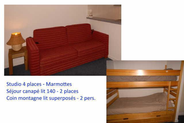 Holiday in mountain resort Studio 4 people (F1) - Résidence les Marmottes - Gourette - Accommodation