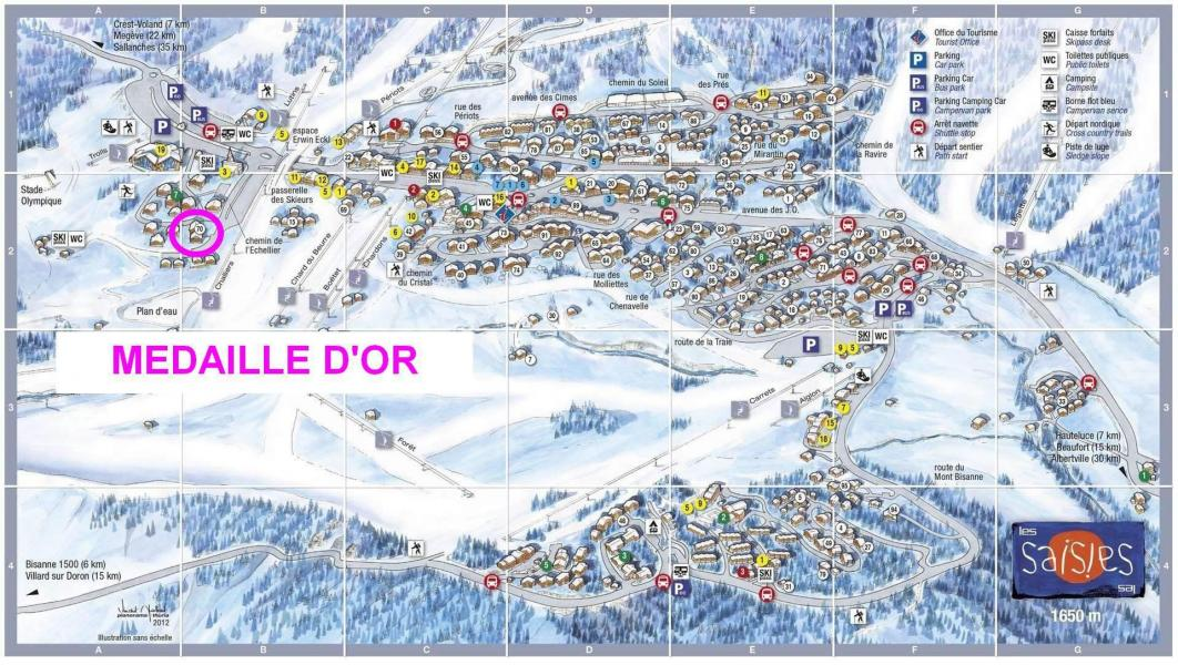 Каникулы в горах Résidence les Médailles d'Or - Les Saisies - план