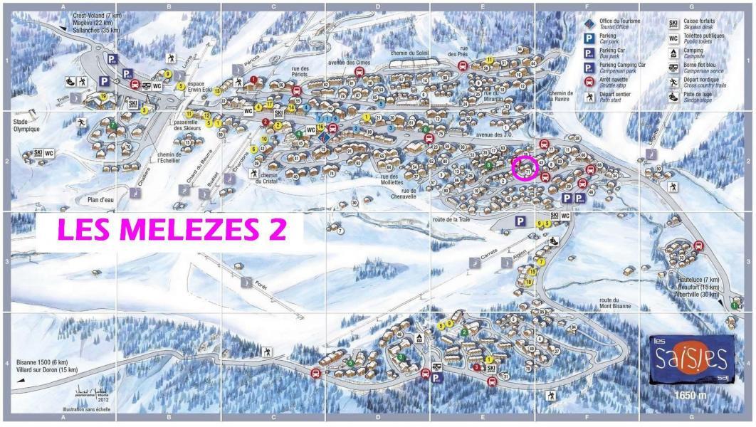 Vacaciones en montaña Résidence les Mélèzes 2 - Les Saisies - Plano