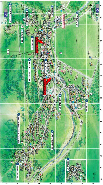 Vacaciones en montaña Résidence les Mélèzes - Pralognan-la-Vanoise - Plano