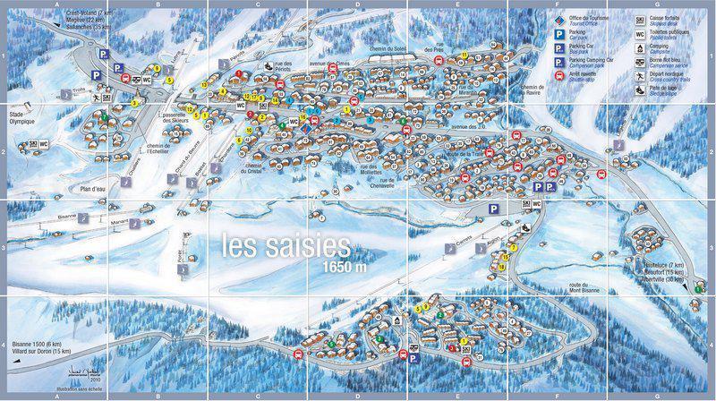 Каникулы в горах Résidence les Mélèzes A - Les Saisies - план