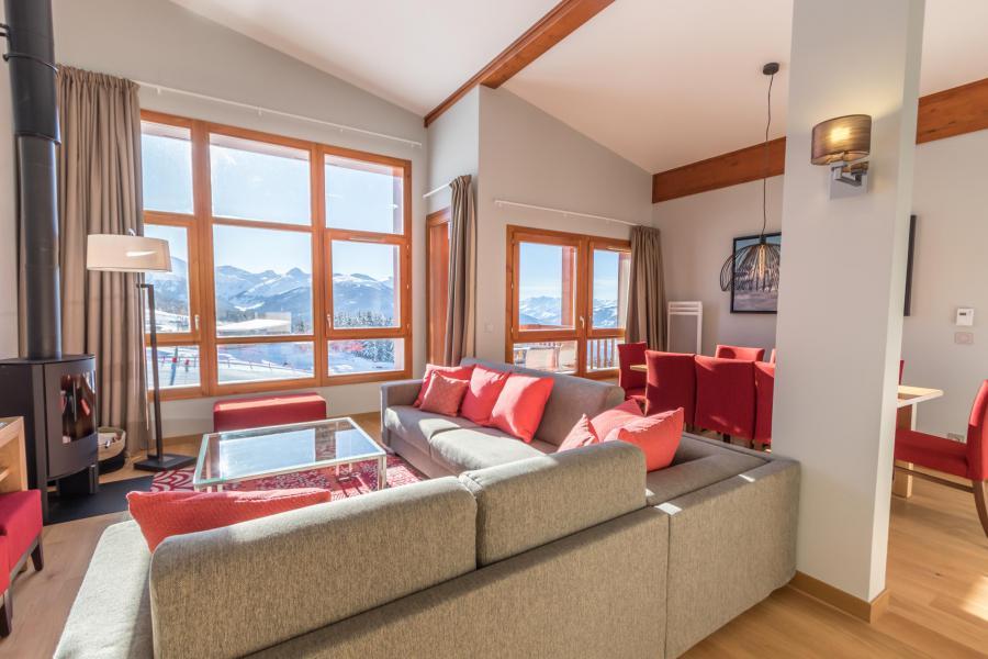 Каникулы в горах Апартаменты 5 комнат 10 чел. (703) - Résidence les Monarques - Les Arcs - Салон