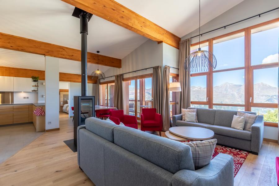 Каникулы в горах Апартаменты 6 комнат 10 чел. (1000) - Résidence les Monarques - Les Arcs - Дровяная печь