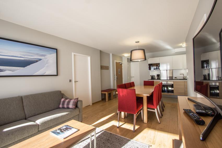 Wakacje w górach Apartament 4 pokojowy 6 osób (301) - Résidence les Monarques - Les Arcs - Jadalnia