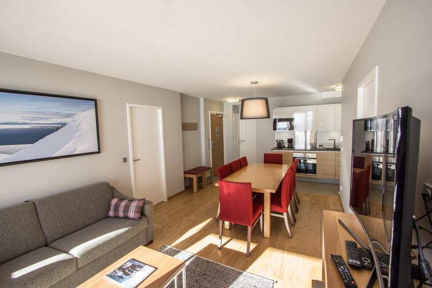 Wakacje w górach Apartament 4 pokojowy 6 osób (301) - Résidence les Monarques - Les Arcs - Ławką