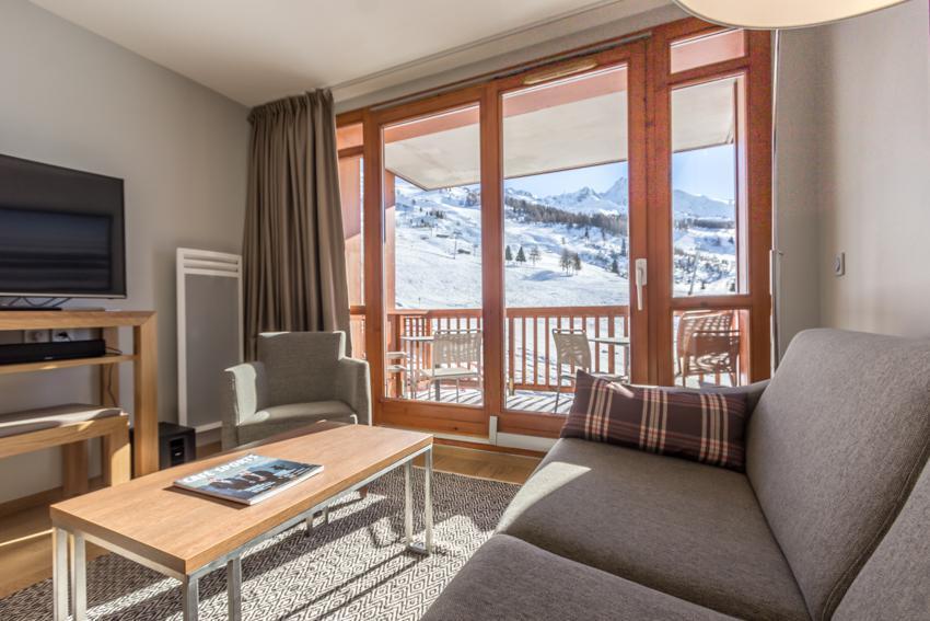 Wakacje w górach Apartament 4 pokojowy 6 osób (301) - Résidence les Monarques - Les Arcs - Pokój gościnny