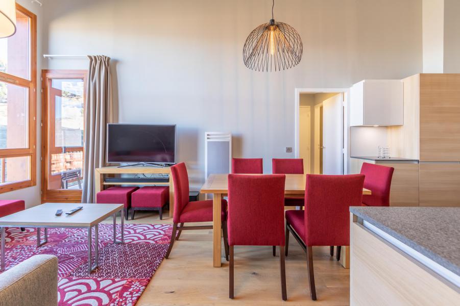 Wakacje w górach Apartament 4 pokojowy 6 osób (702) - Résidence les Monarques - Les Arcs - Jadalnia