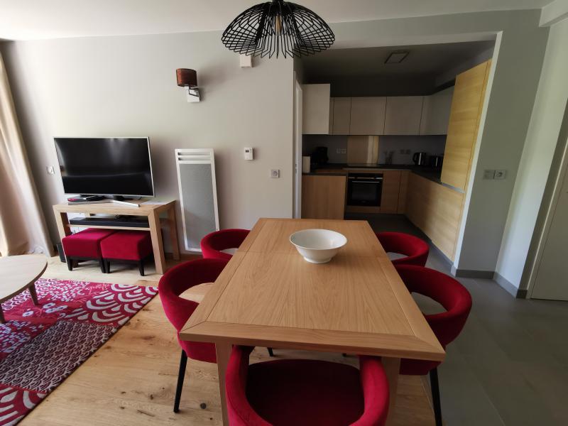 Wakacje w górach Apartament 4 pokojowy 6 osób (809) - Résidence les Monarques - Les Arcs - Jadalnia