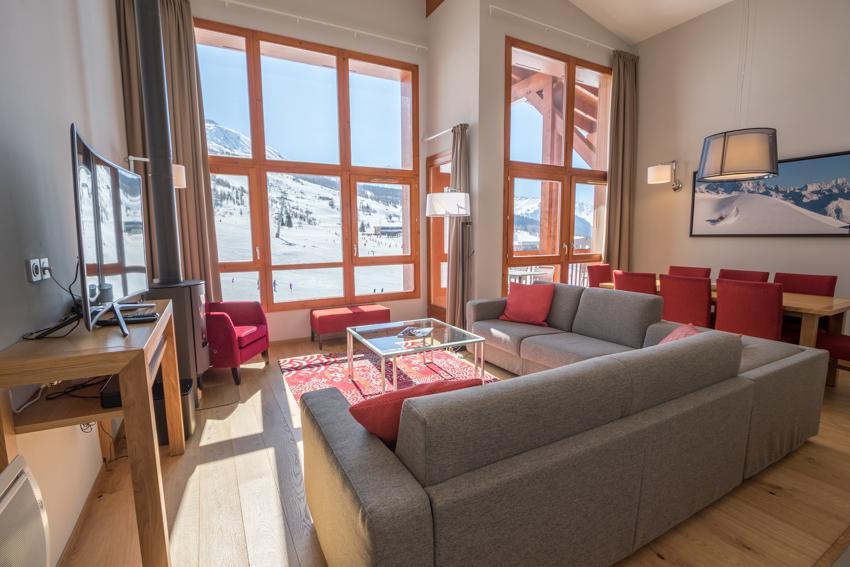 Wakacje w górach Apartament 5 pokojowy 7-9 osób (501) - Résidence les Monarques - Les Arcs - Pokój gościnny