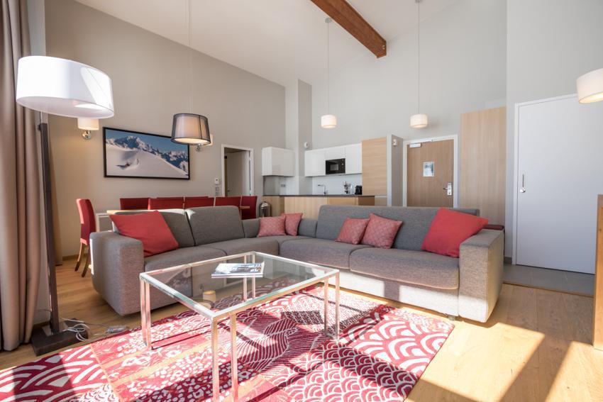 Wakacje w górach Apartament 5 pokojowy 7-9 osób (501) - Résidence les Monarques - Les Arcs - Sofą