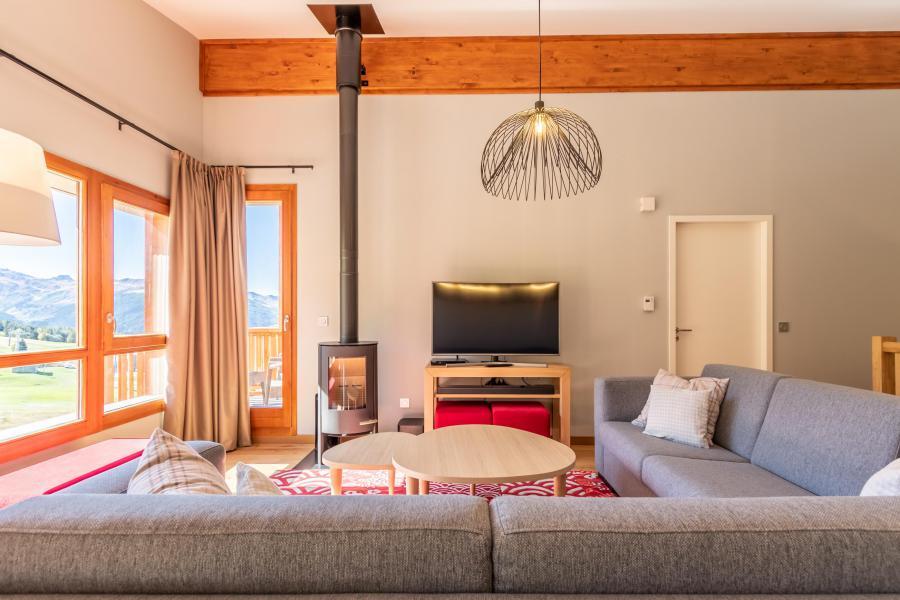 Wakacje w górach Apartament 5 pokojowy 8 osób (1003) - Résidence les Monarques - Les Arcs - Piecem na drewno