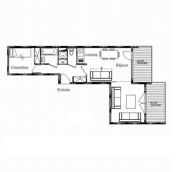 Vacances en montagne Appartement 2 pièces coin montagne 6 personnes (D19) - Résidence les Murgers - Saint Martin de Belleville