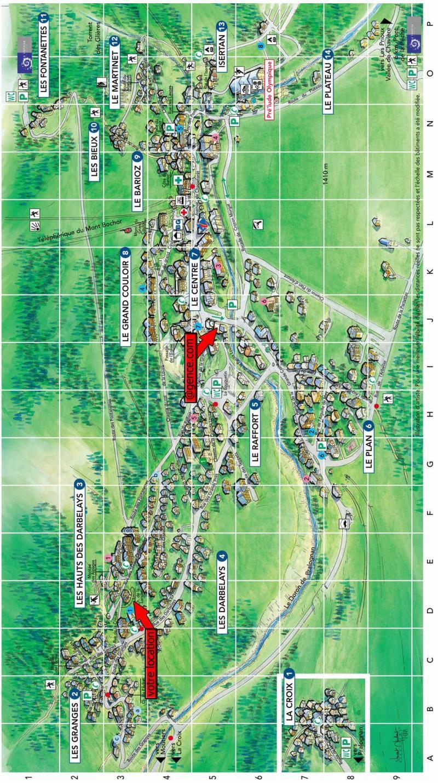 Vacaciones en montaña Résidence les Myrtilles - Pralognan-la-Vanoise - Plano