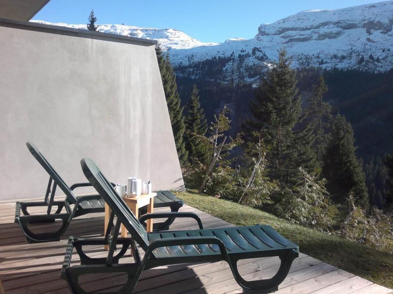 Urlaub in den Bergen Résidence les Pléiades - Flaine - Terrasse