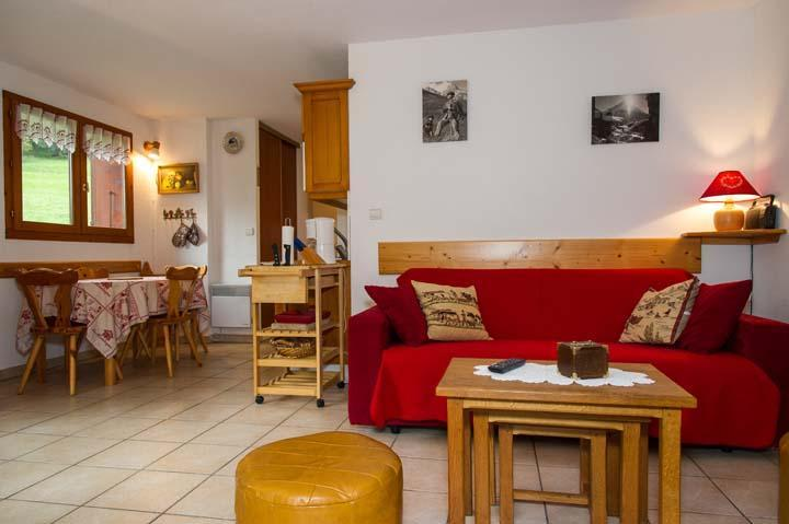 Vacaciones en montaña Apartamento 2 piezas cabina para 5 personas (PRA006) - Résidence les Praz - Châtel - Sofá