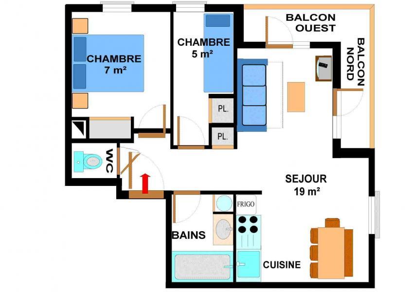 Vacances en montagne Appartement 3 pièces 6 personnes (012) - Résidence les Sports - Aussois