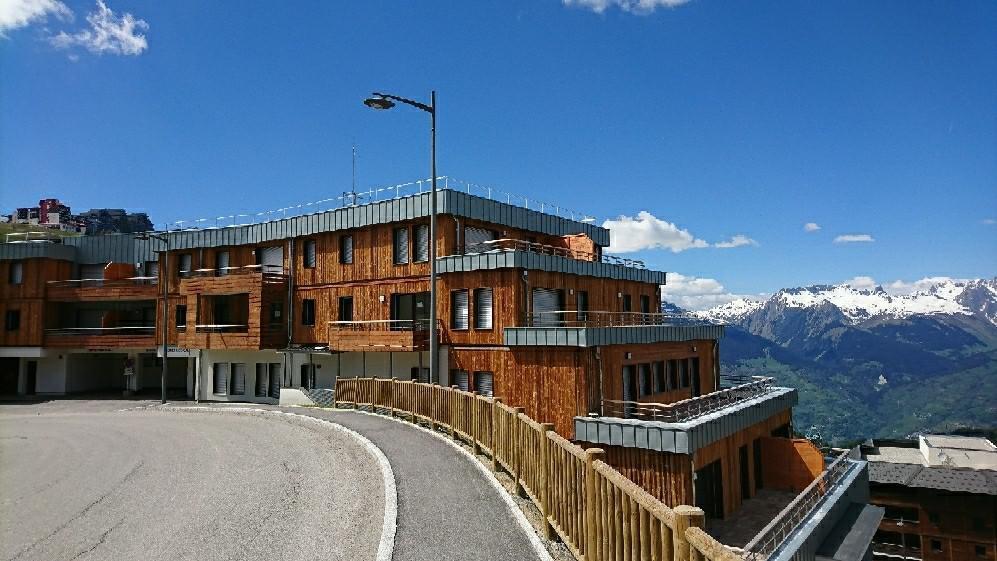 Wakacje w górach Apartament 3 pokojowy 6 osób (B302) - Résidence Lodges 1970 - La Plagne - Na zewnątrz latem