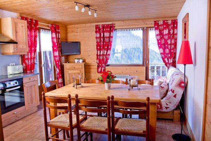 Vacaciones en montaña Apartamento 3 piezas para 7 personas (CAN004) - Résidence Lou Candres - Châtel - Comedor