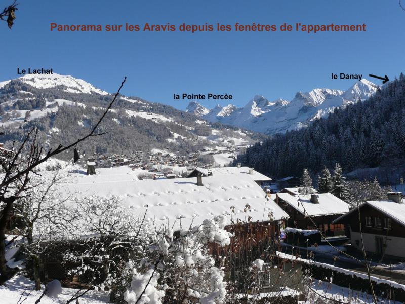 Holiday in mountain resort Studio cabin 4 people (001) - Résidence Lou R'Bat Pays - Le Grand Bornand