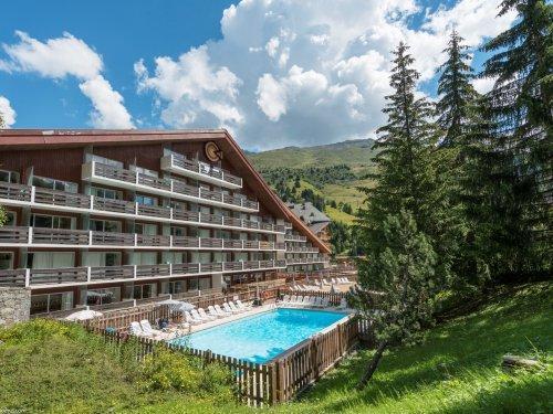 Location au ski Residence Maeva Les Bleuets - Méribel-Mottaret - Extérieur été