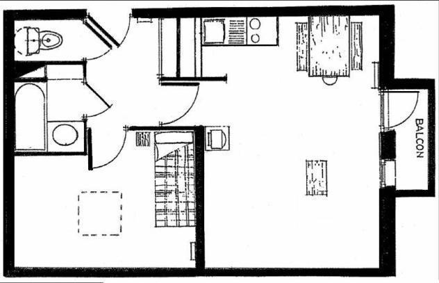 Vacances en montagne Appartement 2 pièces 5 personnes (618) - Résidence Michailles - Peisey-Vallandry - Plan