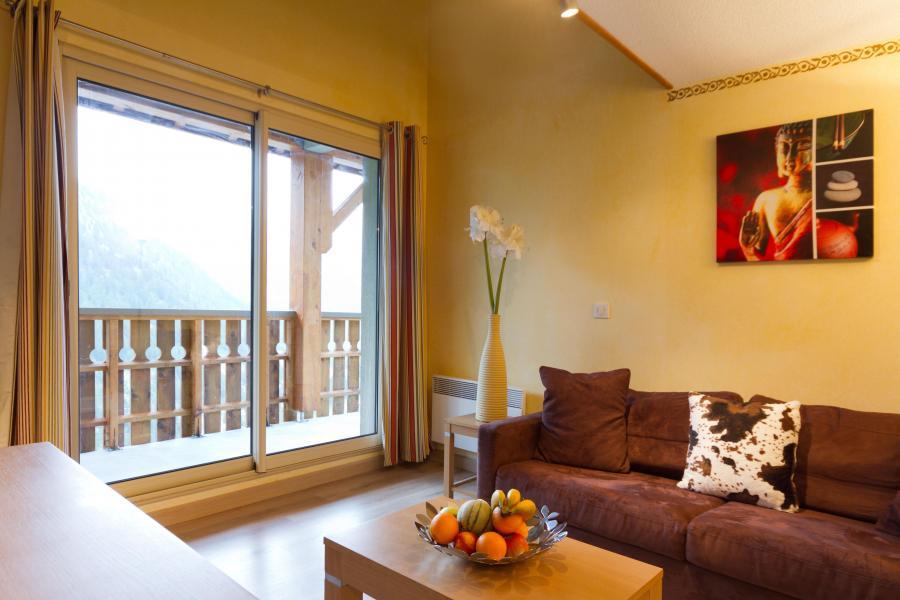 Urlaub in den Bergen Résidence MMV les Terrasses d'Isola - Isola 2000 - Kleines Wohnzimmer