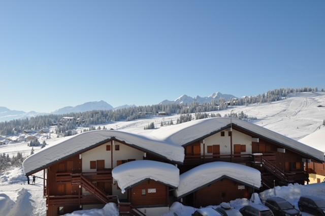 Location au ski Résidence Mont Blanc B - Les Saisies - Extérieur été