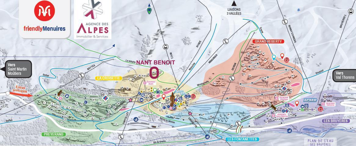 Vacances en montagne Résidence Nant Benoit - Les Menuires - Plan