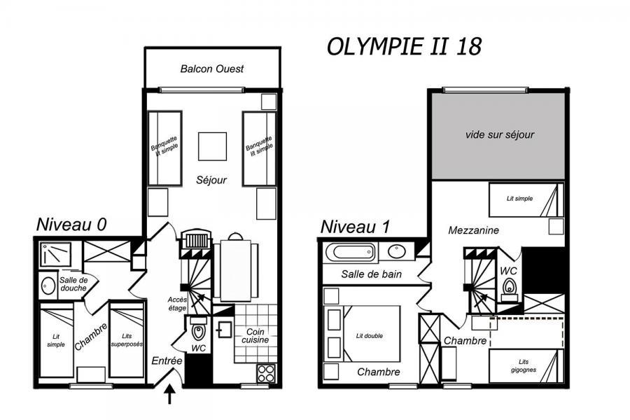 Vacances en montagne Appartement 4 pièces mezzanine 8 personnes (18) - Résidence Olympie II - Méribel-Mottaret