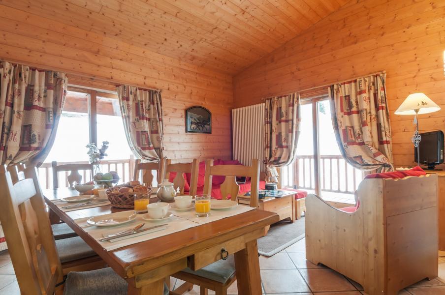 Vakantie in de bergen Résidence P&V Premium les Alpages de Chantel - Les Arcs - Eethoek