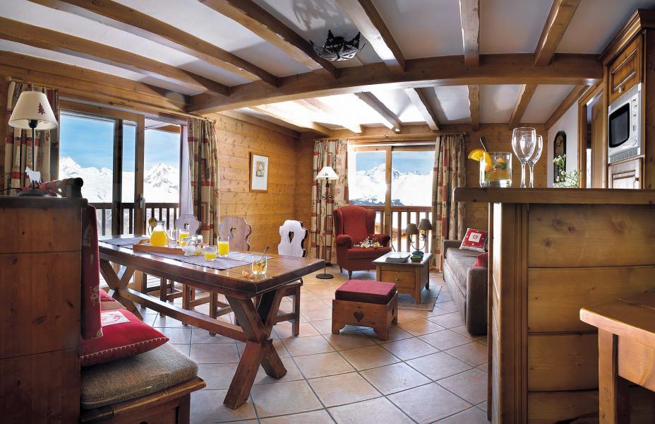 Vakantie in de bergen Résidence P&V Premium les Alpages de Chantel - Les Arcs - Woonkamer