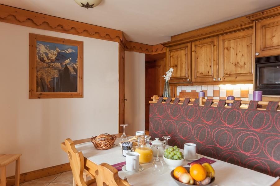 Vakantie in de bergen Résidence P&V Premium les Alpages de Reberty - Les Menuires - Eethoek