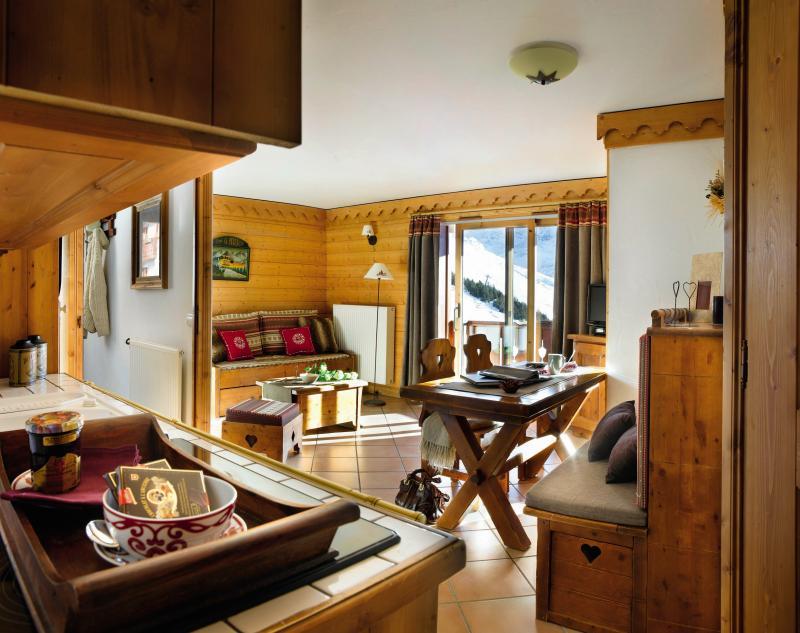 Urlaub in den Bergen Résidence P&V Premium les Alpages de Reberty - Les Menuires - Essbereich