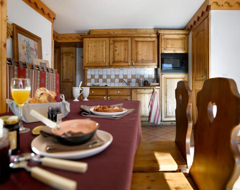 Vakantie in de bergen Résidence P&V Premium les Alpages de Reberty - Les Menuires - Open keuken
