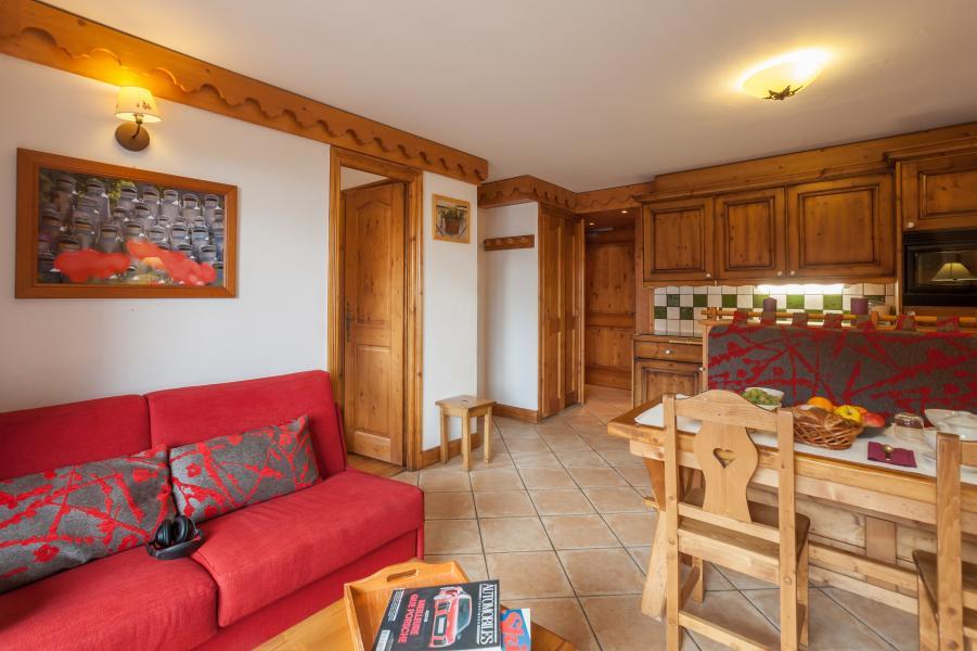 Vakantie in de bergen Résidence P&V Premium les Alpages de Reberty - Les Menuires - Woonkamer