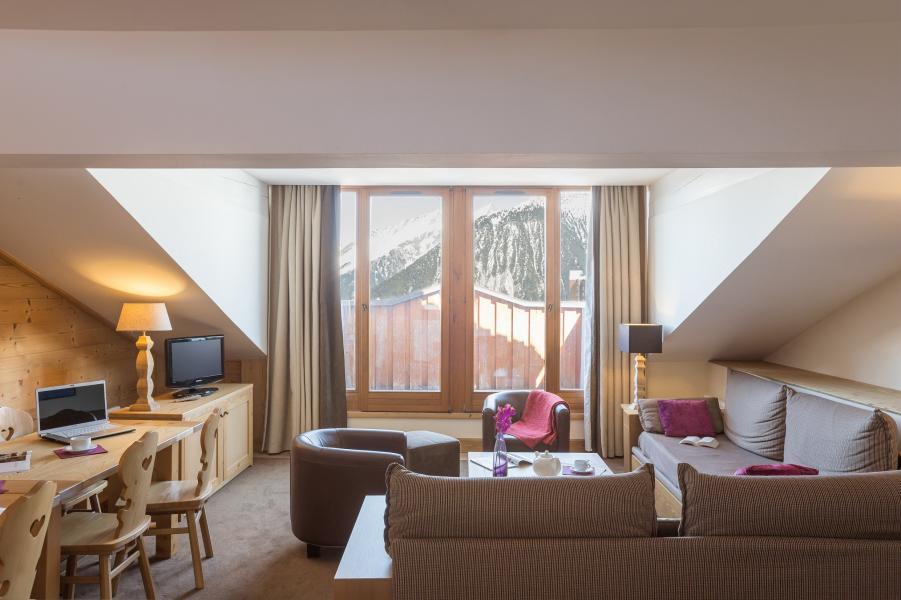 Urlaub in den Bergen Résidence P&V Premium les Chalets du Forum - Courchevel - Kleines Wohnzimmer