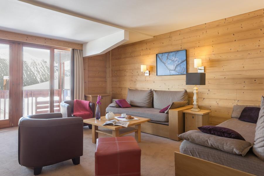 Urlaub in den Bergen Résidence P&V Premium les Chalets du Forum - Courchevel - Wohnzimmer