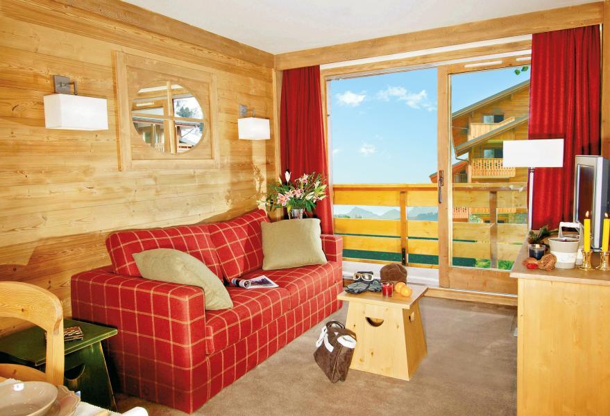 Vakantie in de bergen Résidence P&V Premium les Crêts - Méribel-Mottaret - Woonkamer