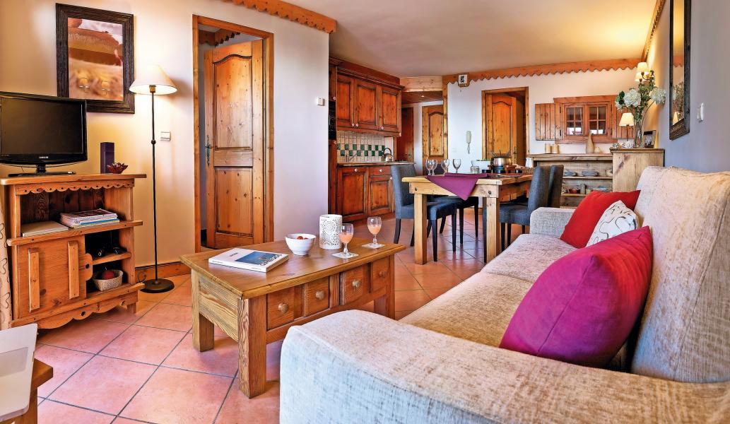 Vakantie in de bergen Résidence P&V Premium les Hauts Bois - La Plagne - Woonkamer