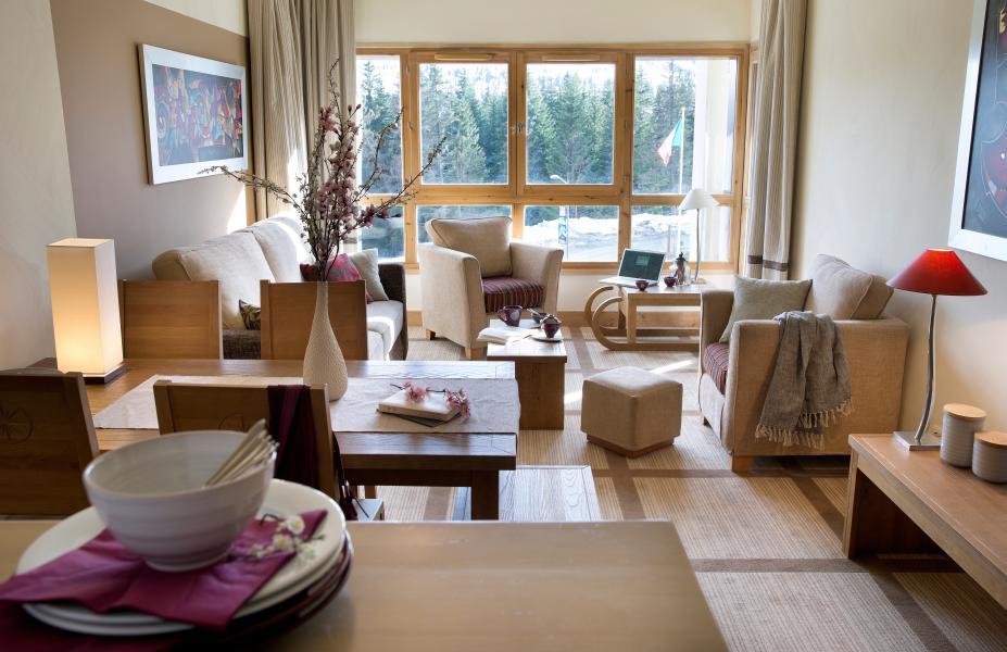 Vakantie in de bergen Résidence P&V Premium les Terrasses d'Eos - Flaine - Woonkamer
